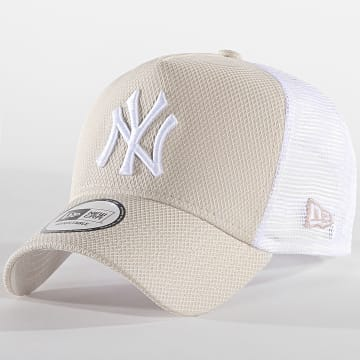Casquette Trucker Diamond Era 12040557 New York Yankees Ecru