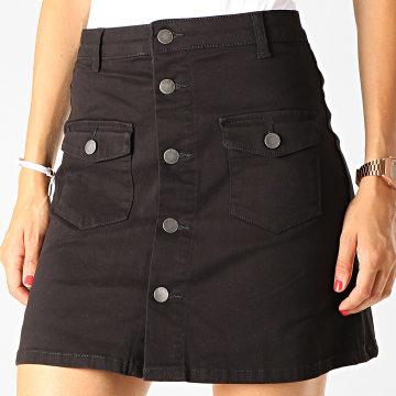 Jupe Femme Five Button Noir