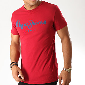 Pepe Jeans - Tee Shirt Original Stretch Rouge
