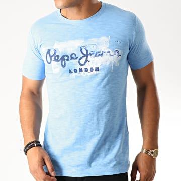 Tee Shirt Slim Golders Bleu Clair Chiné