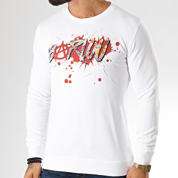 Neochrome - Sweat Crewneck Barlou Splatter Blanc