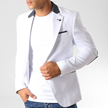 Black Needle - Veste Blazer 20151 Blanc