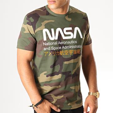 NASA - Tee Shirt Admin 2 Camouflage Vert Kaki