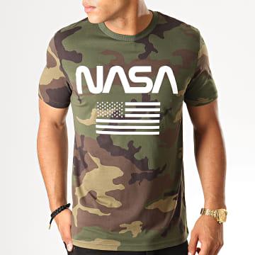 Tee Shirt Flag Camouflage Vert Kaki
