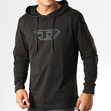 Diesel - Tee Shirt Manches Longues A Capuche Jimmy 00SCW4-0TAWW Noir