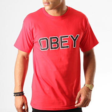 Obey - Tee Shirt Tough Rouge