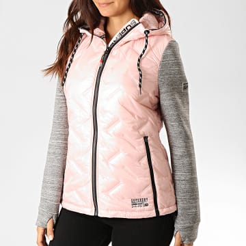 Doudoune Femme Storm Injected Luxe Hybrid W2000041A Rose Clair Gris Chiné