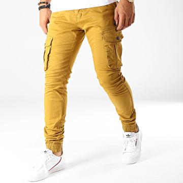 Pantalon Cargo 77286 Jaune Moutarde