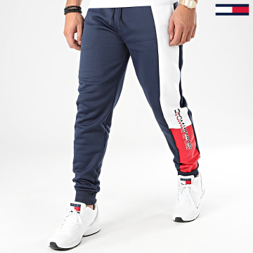 Pantalon Jogging Graphic Flag Fleece 0205 Bleu Marine Blanc