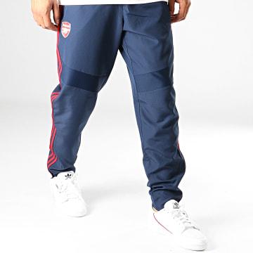 Adidas Performance - Pantalon Jogging A Bandes Arsenal Presentation EH5726 Bleu Marine Foncé Rouge