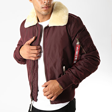 Alpha Industries - Veste Zippée Col Mouton Injector III 143104 Bordeaux Beige