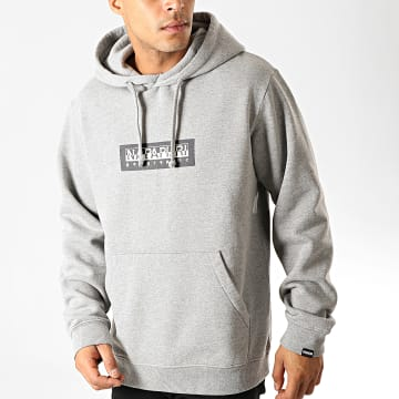 Sweat Capuche Box NP000KBT Gris Chiné