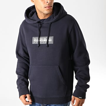 Sweat Capuche Box NP000KBT Bleu Marine