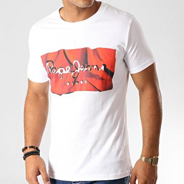 Tee Shirt Slim Raury Blanc Rouge