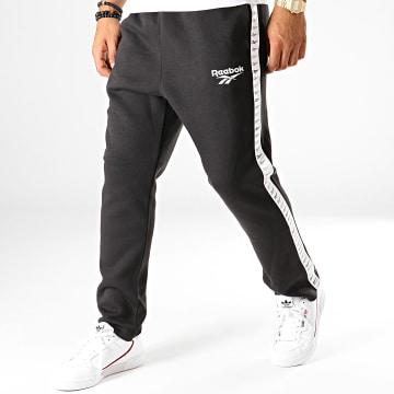Pantalon Jogging A Bandes Classics Vector EC4516 Noir Blanc