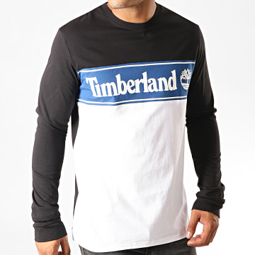 Timberland - Tee Shirt Manches Longues Cut And Sew A1Z24 Noir Blanc