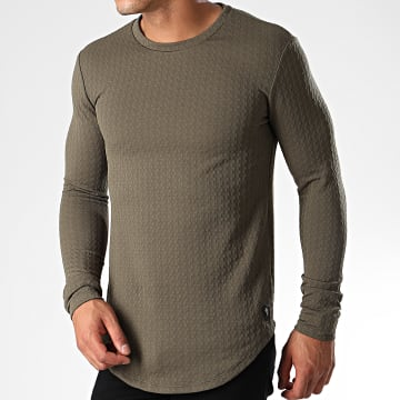 Tee Shirt Oversize Manches Longues UY429 Vert Kaki