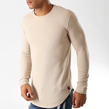 Tee Shirt Manches Longues Oversize UY428 Beige