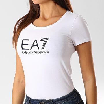 Tee Shirt Femme 8NTT63-TJ12Z Blanc