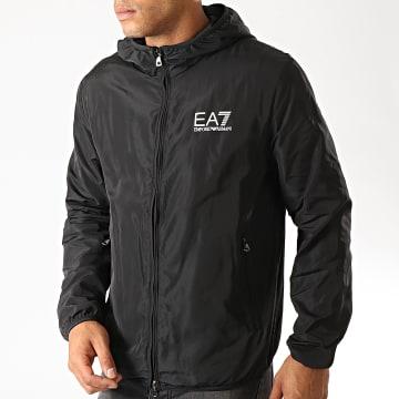 EA7 - Veste Zippée Capuche 8NPB04-PNN7Z Noir Argenté