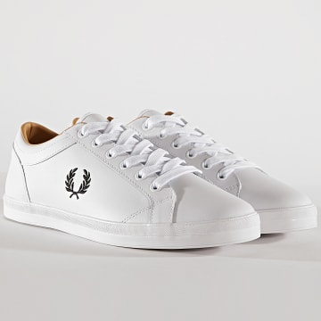 Fred Perry - Baskets B6158 Baseline Leather White