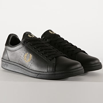 Fred Perry - Baskets B6201 Leather Black