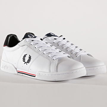Fred Perry - Baskets B6202 Leather White