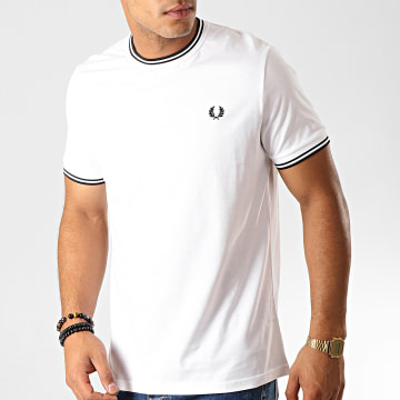 Fred Perry - Tee Shirt Twin Tipped M1588 Blanc Noir