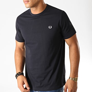 Fred Perry - Tee Shirt Ringer M3519 Bleu Marine Foncé