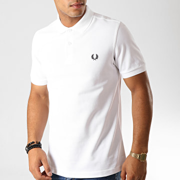 Fred Perry - Polo Manches Courtes Plain M6000 Blanc