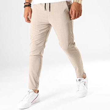 Frilivin - Pantalon Carreaux P1101 Beige