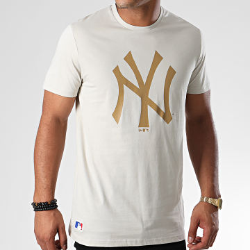 Tee Shirt MLB Seasonal Team Logo New York Yankees 12033497 Gris Clair