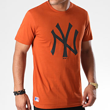 Tee Shirt MLB Seasonal Team Logo New York Yankees 12033498 Orange