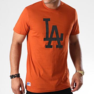 Tee Shirt MLB Seasonal Team Logo Los Angeles Dodgers 12033502 Orange