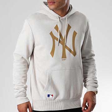 Sweat Capuche MLB Seasonal Team Logo New York Yankees 12033505 Gris Clair