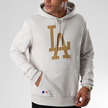 New Era - Sweat Capuche MLB Seasonal Team Logo Los Angeles Dodgers 12033509 Gris Clair