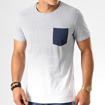 Tee Shirt Poche 1013299-00-12 Blanc Bleu Marine