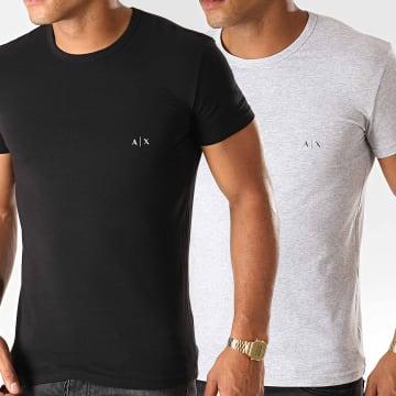 Lot De 2 Tee Shirts 956005-CC282 Noir Gris Chiné