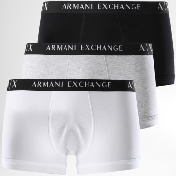 Armani Exchange - Lot De 3 Boxers 956000 Noir Gris Chiné Blanc