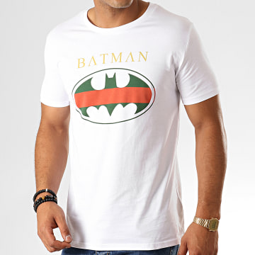 Tee Shirt Batman Institutional Tricolore Blanc