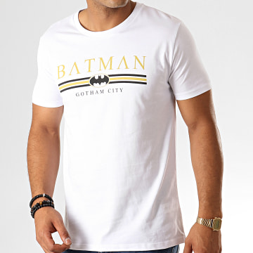 Tee Shirt Batman Institutional Gotham Blanc