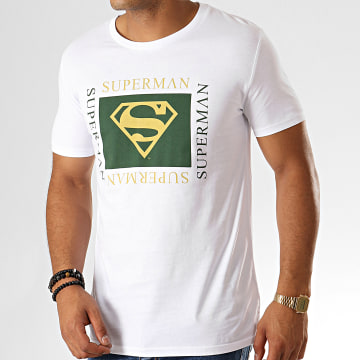 DC Comics - Tee Shirt Superman Institutional Square Blanc