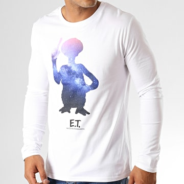 E.T. L'Extraterrestre - Tee Shirt Manches Longues Stars Blanc