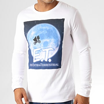 E.T. L'Extraterrestre - Tee Shirt Manches Longues Moon Blanc