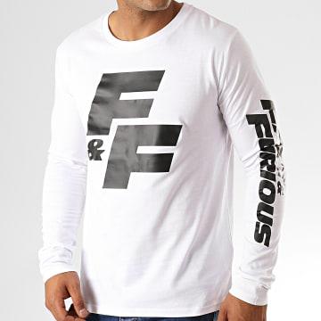 Fast & Furious - Tee Shirt Manches Longues FF Blanc