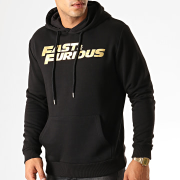Fast & Furious - Sweat Capuche Fast And Furious Noir Doré