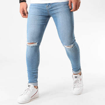 Jean Super Skinny Fit Troué 925 SS-13B Denim Bleu Clair