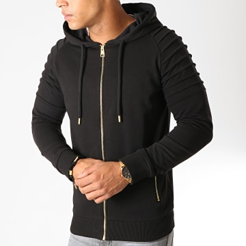Sweat Zippé Capuche Gold 869 Noir Or