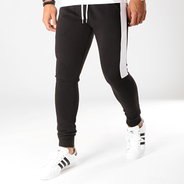 Pantalon Jogging Fit 829 Noir Blanc