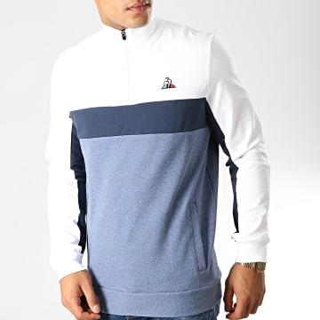 Sweat Col Zippé Tricolore Saison N1 1920937 Bleu Chiné Blanc Bleu Marine